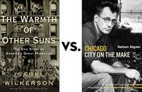 <i>The Warmth of Other Suns</i> vs. <i>Chicago: City on the Make</i>: Greatest Chicago Book tournament, final four