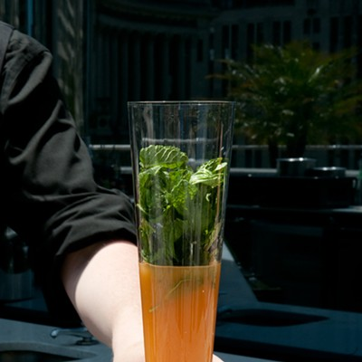 Step-by-step instructions for making Ingi Sigurdsson's sweet potato swizzle
