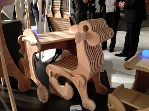 There was some furniture, including this Dyno Desk by Allison Holden.