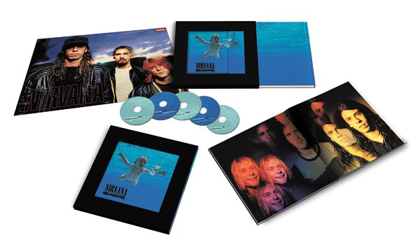 "This excellent Photoshop job depicts the ""super deluxe"" edition of Nevermind"