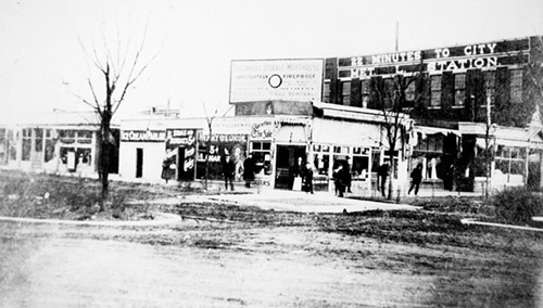 This photo was taken by someone standing just about where the Illinois Centennial Monument is today, facing southeast, after the Metropolitan Elevated was built in 1895.