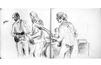Three Beats: Cabdriver Dmitry Samarov exhibits his sketches of shows