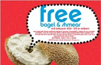 Through 5/2 — Free Einstein's Bagel and Schmear