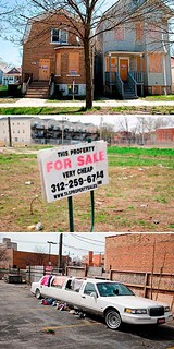 TIF districts on the south and west sides remain littered with boarded-up homes, empty lots, and abandoned cars.
