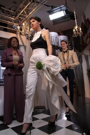 Tonya Pierce and the unconventional wedding dress she created for So You Wanna Be a Designer