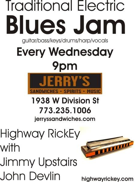 Traditional Electric Blues Jam (every Wednesday) w/ Highway RickEy