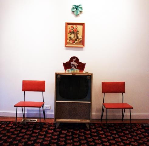 """TV Arrangement"" Reassembled  Photo: Roger Brown Study Collection, 2010"