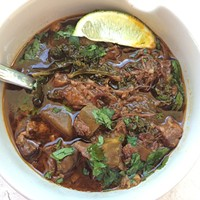 Rick Bayless shares his recipe for red chile short rib soup