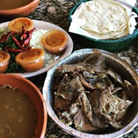 Pulqueria Chicago steams lamb barbacoa in the style of Hidalgo