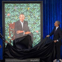 The Obamas' portraits are a colorful—and memorable—break from the dull presidential past
