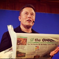 Elon Musk hires six staffers from the <i>Onion</i> for his 'new intergalactic media empire' called Thud!