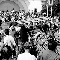 Protests and blaming the media—sound familiar? That was during the '68 Democratic National Convention