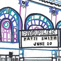 Patti Smith makes her south-side debut on the (fantasy) gig poster of the week