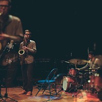 The improvising trio of Jim Baker, Keefe Jackson, and Julian Kirshner specializes in surprise