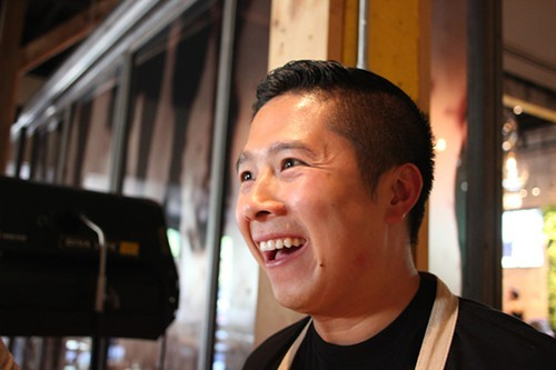 An ebullient Thai Dang at tableside