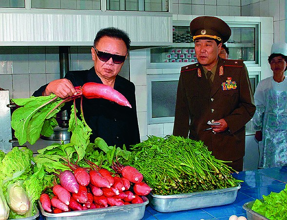 João Rocha, Looking at a Radish, from the book Kim Jong Il Looking at Things, 2012 - COURTESY MOCP