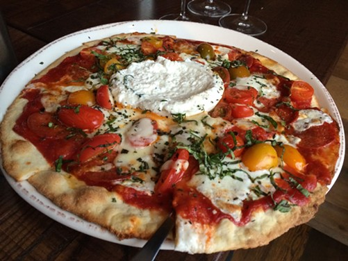 A curious margherita pizza - MIKE SULA