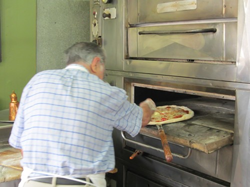 Dom DeMarco and New York pizza at Di Fara Pizza in Brooklyn - MICHAEL GEBERT