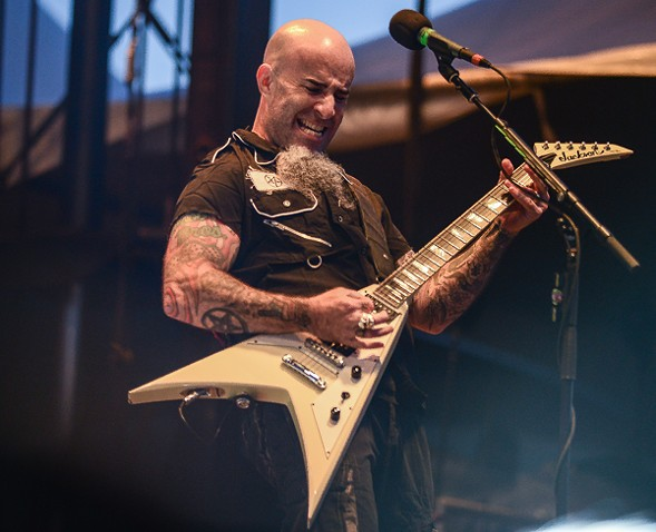 Highlights of the Anthrax set: everything onstage, Scott Ian's graying chin dangler included - BOBBY TALAMINE