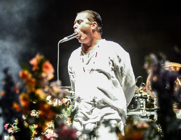 Mike Patton of Faith No More squeezed 30-second screams out of his lungs when his mouth wasn't full. - BOBBY TALAMINE