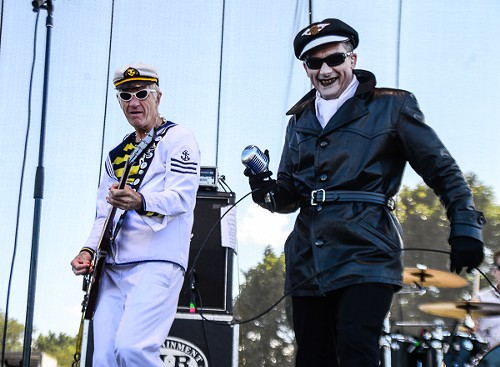 Captain Sensible and Dave Vanian of the Damned. The fanfic about this set is going to be filthy. - BOBBY TALAMINE