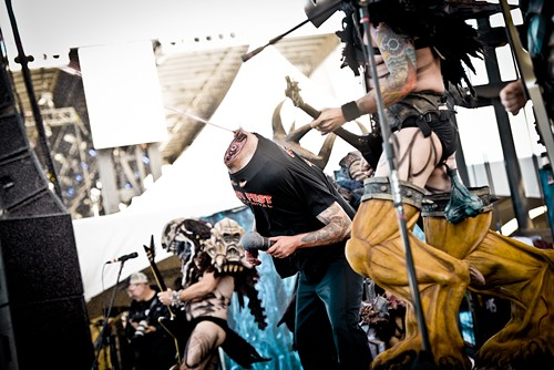 Honestly,  if you get onstage with Gwar, about the nicest thing you can expect is decapitation. At least that way you can't see what they do to your body. - ALISON GREEN