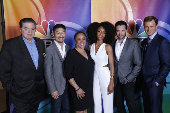 The cast of Chicago Med during the Television Critics Association summer press tour - COURTESY NBC