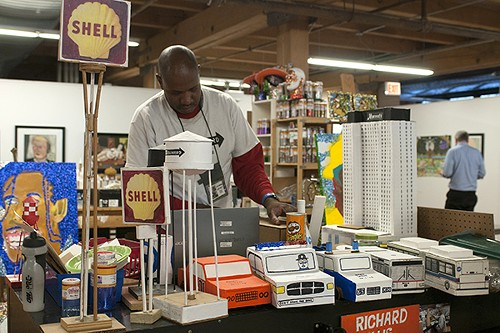 Wesley Willis's brother Ricky creates sculptures out of cardboard, glue, and tape. - ANDREA BAUER