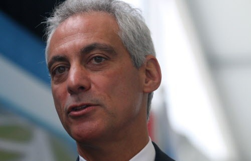 "Mayor Rahm doesn't tell the truth about TIFs and taxes even while trying to abide by the state's ""Truth-in- Taxation Law."" - TIM BOYLE/SUN-TIMES"