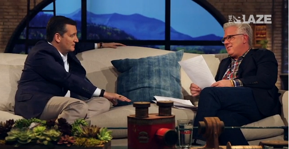 Senator Ted Cruz with commentator Glenn Beck. - (THE BLAZE)