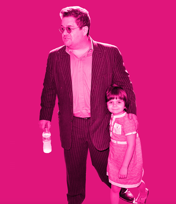 Patton Oswalt and his daughter Alice