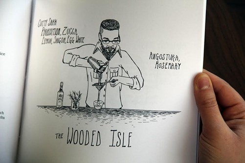 Illustration for the Wooded Isle in Cocktails for Dingdongs - ALEXANDRA ENSIGN