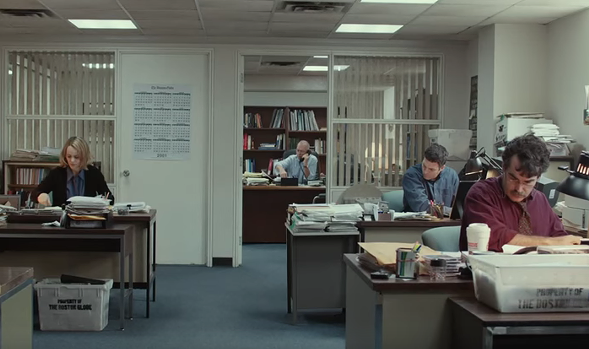 Spotlight tells the story of the Boston Globe's 2002 investigation of the Catholic Church. - FIRST LOOK