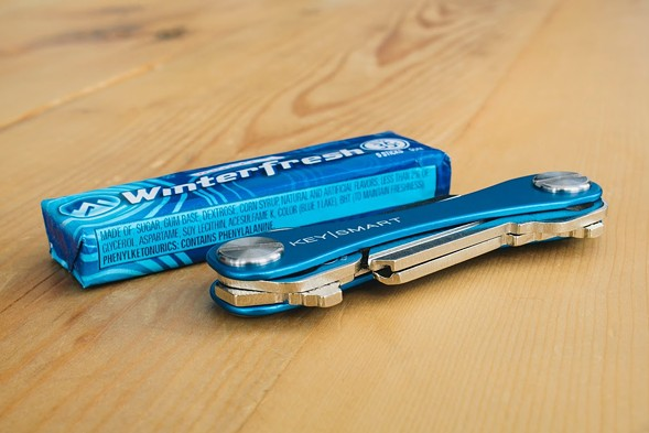 KeySmart is designed to be the size of a pack of gum. - COURTESY OF KEYSMART