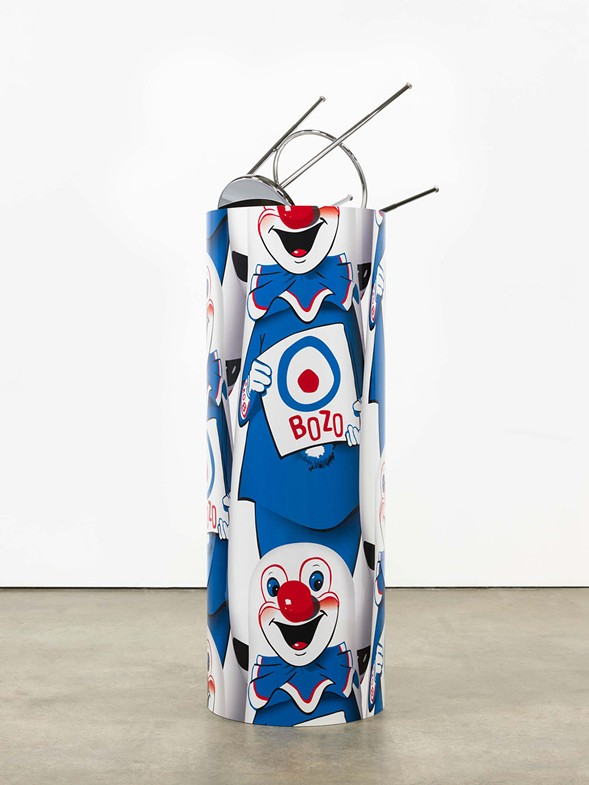 "Kathryn Andrews, ""Bozo™ The World's Most Famous Clown"" Bop Bag with Occasional Performance (Blue Variation), 2014 - PHOTO: FREDRIK NILSEN COURTESY OF DAVID KORDANSKY GALLERY, LOS ANGELES"