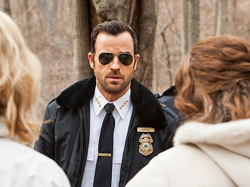 Justin Theroux goes in and out of purgatory in The Leftovers. - HBO
