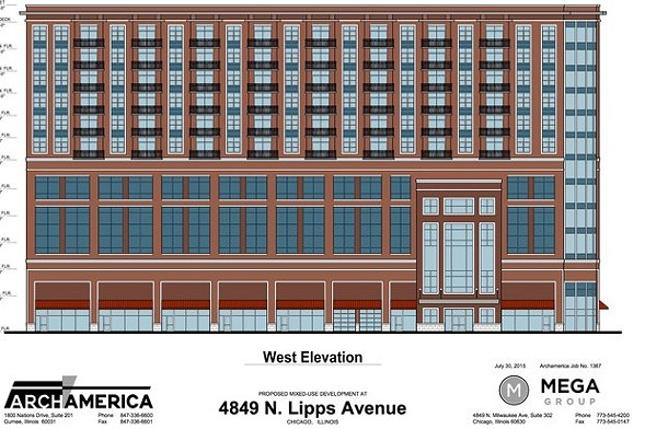 Mega Realty's proposed 12-story tower would be built just southeast of the transit center. - MEGA REALTY