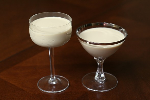Eggnog from 2013 (left) and 2014 - JULIA THIEL