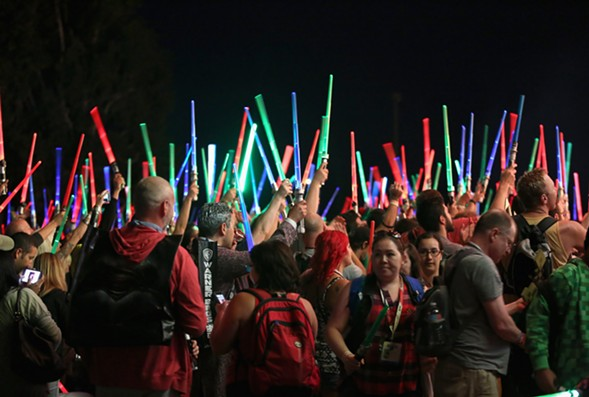 """Self-infantilizing """"nerd culture"""" has conquered the universe. - JESSE GRANT/GETTY IMAGES FOR DISNEY"""