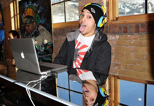 Timothy Jones, aka DJ Timbuck2, at the Sundance Film Festival in 2009 - AP PHOTO/SHEA WALSH