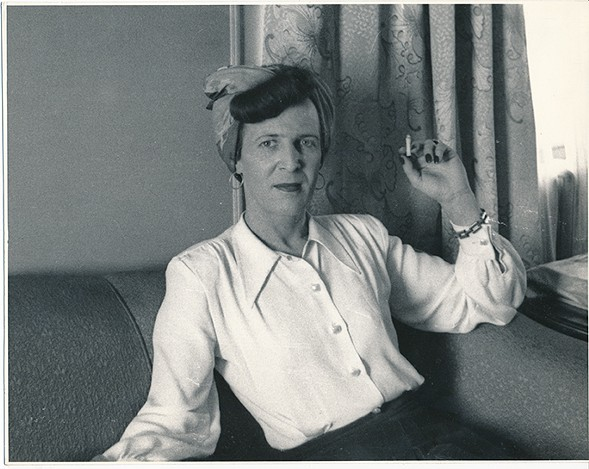 Anonymous photographer, Louise Lawrence With Cigarette - COURTESY OF THE KINSEY INSTITUTE
