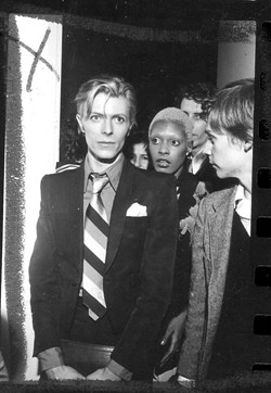 """You'd walk into a room and the cameras would be flashing and popping. People wanted to touch him or speak to him or take his picture,"" says Cherry of accompanying Bowie. - COURTESY AVA CHERRY"