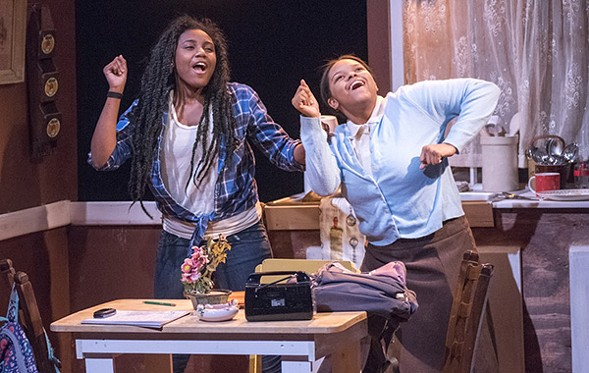 Ireon Roach and Megan Napier in the Yard's Milk Like Sugar, a coproduction with Raven Theatre - DEAN LA PRAIRIE
