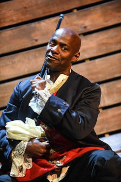 Paterson Joseph (Sancho) in National Theatre Studio's Sancho: An Act of Remembrance. - ROBERT DAY