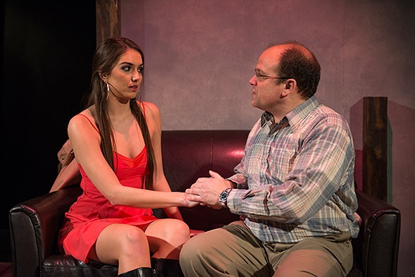 "Marilyn Bass and Steve Silver in Lovely Head, part of Profiles' Neil LaBute double feature ""Vices and Virtues"" - MICHAEL BROSILOW"