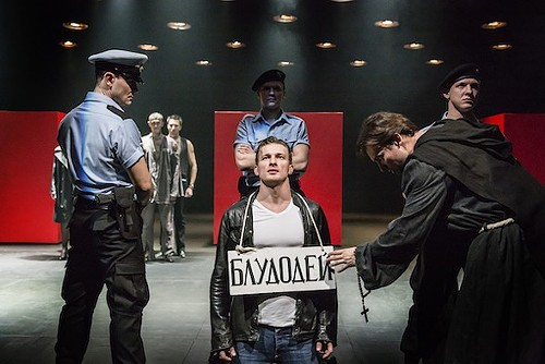 Keep your eyes on the stage, not the supertitles, for the Cheek by Jowl/Pushkin Theatre production that launches Shakespeare 400 Chicago. - JOHAN PERSSON