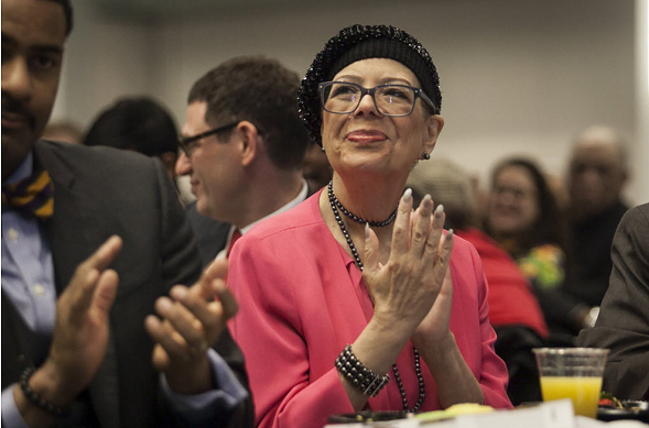 Karen Lewis, president of the Chicago Teachers Union - ASHLEE REZIN/SUN-TIMES