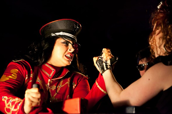 Win a date with a lady arm wrestler at My Bloody CLLAW-entine on Sat 2/13. - JAMES RAND