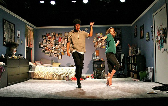 Tevion Lanier and Olivia Shine in I & You, coproduced by Jackalope Theatre and the Yard - COURTESY THE FRONTIER