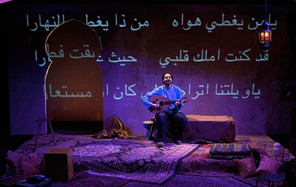 Ronnie Malley, who explores the world of  medieval poet-musician Ziryab at Silk Road Rising - AIRAN WRIGHT